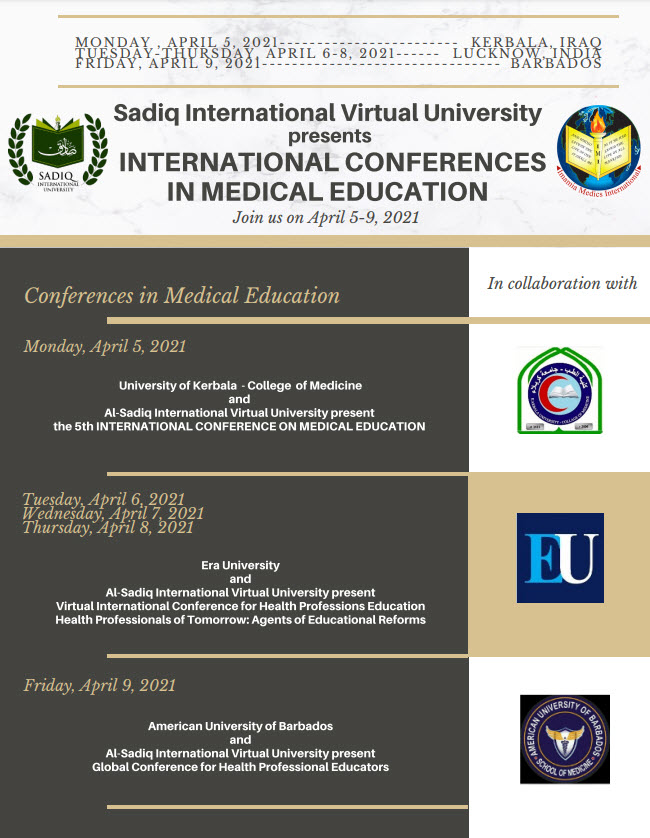 SIVU Webinars in Collaboration with Universities in Iraq, India & Barbados